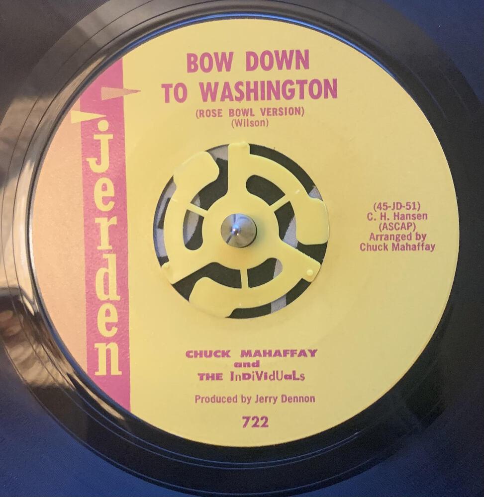 """Bow Down to Washington"" by Chuck Mahaffey and The Individuals"