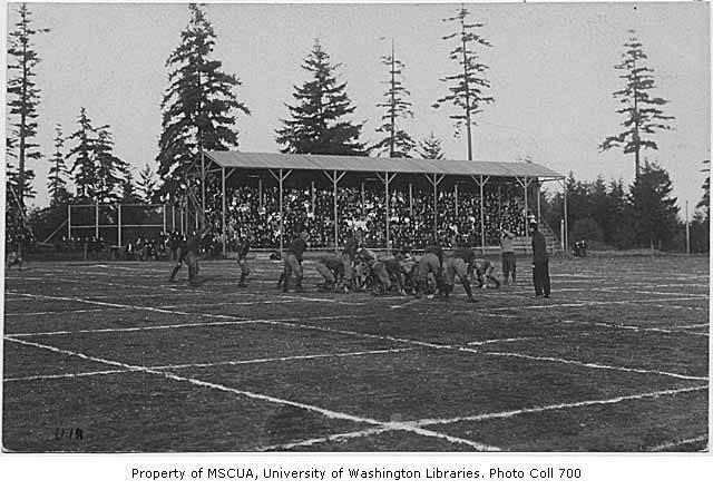 UW Football at Denny Field, ca 1915