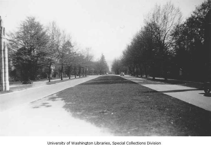 Memorial Way, UW Campus 1946