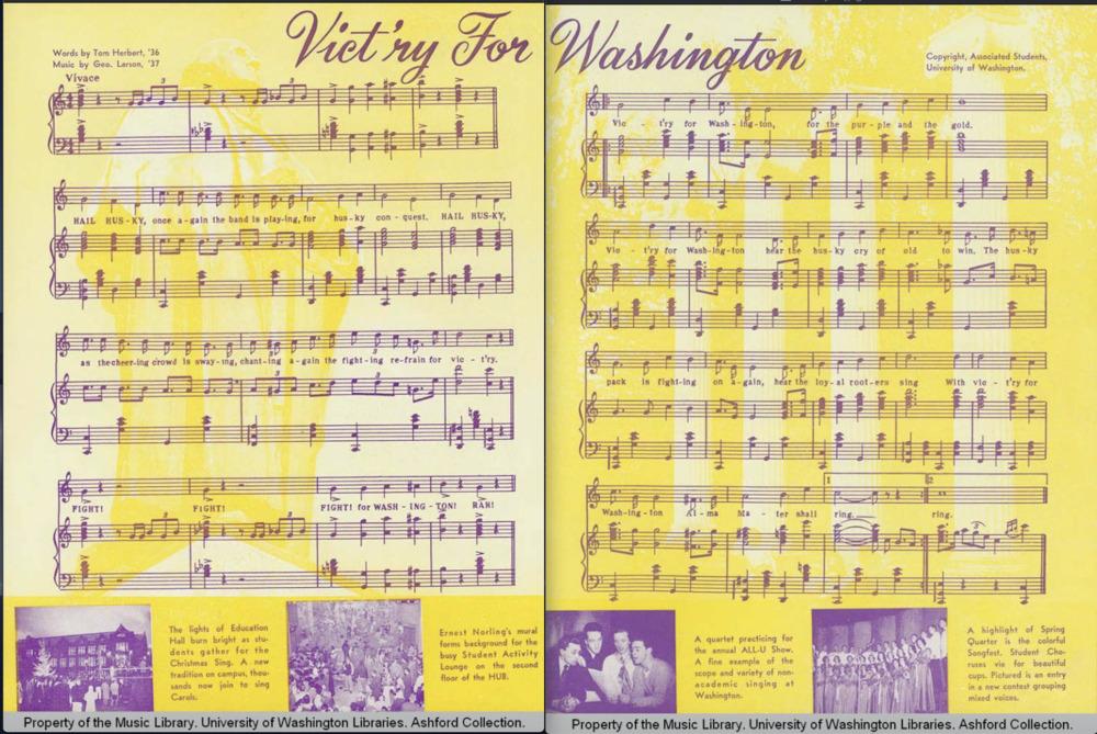 Victry for Washington- Husky Songs